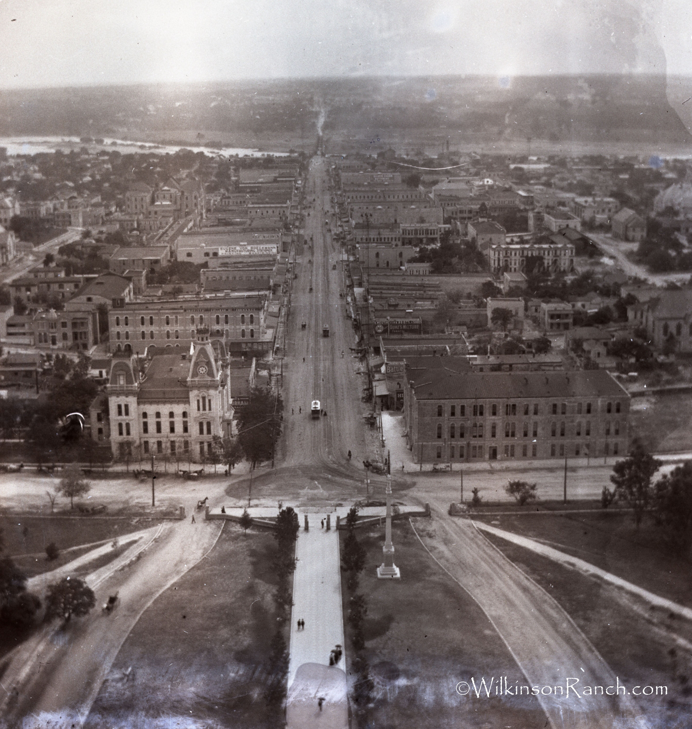 Glass Negative Out Of The State Capitol Building C1896